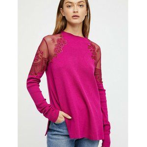 Free People Daniella Pink Pullover Top XS/S US